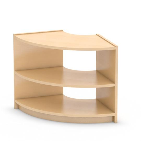 Viertelbogen-Regal - Höhe 60 cm - aus dem System Korpus Classic mit 3 Böden