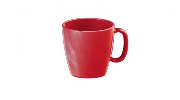 Kindergeschirr aus Melamin - Serie Colora - Kaffeetasse in Rot