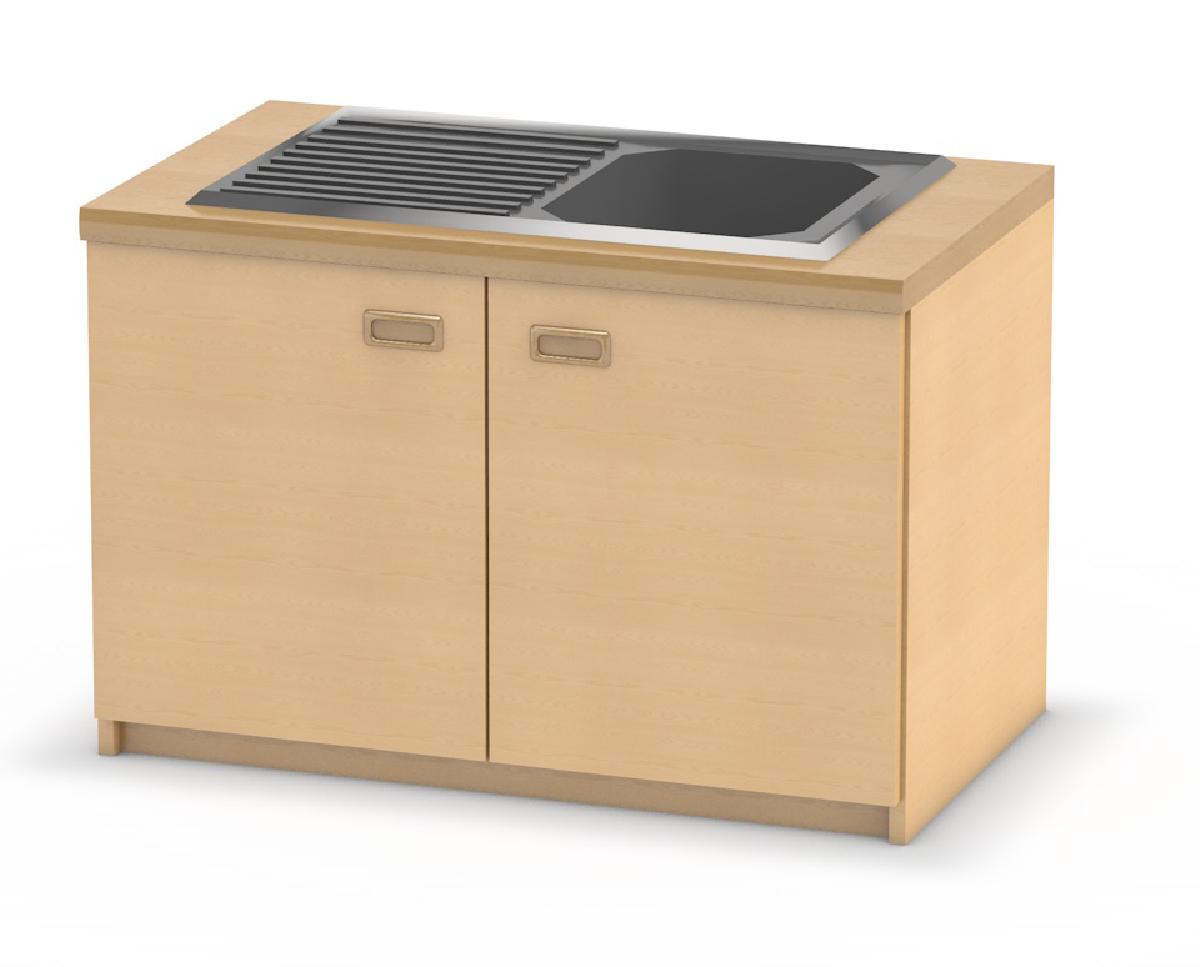 Küchen-Spülenschrank mit Doppeltür | Küchenmöbel für Kinder von kita ...