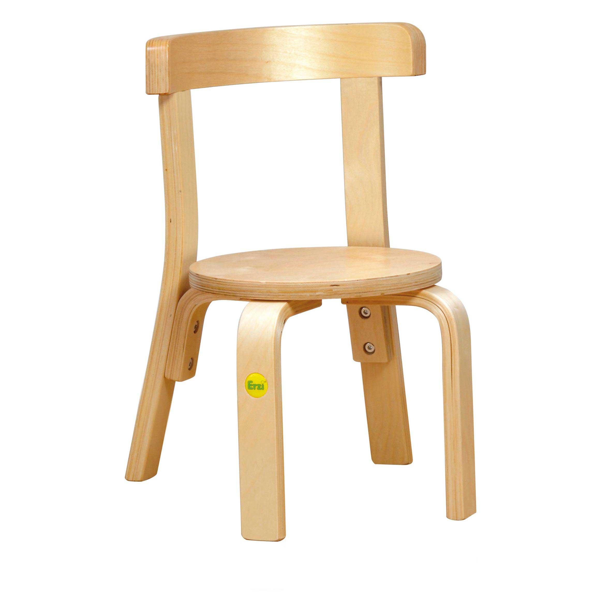Stuhl aus Formholz Birke mit Rückenlehne für Kinder | kita-ausstatter.de
