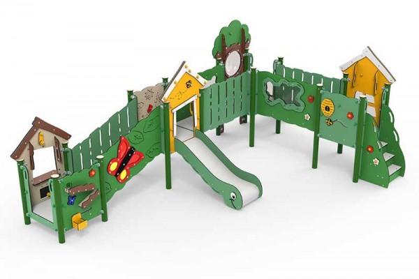 MiniPlay Spielanlage Jonathan - große Spielplatzanlage für Kinder von 0-4 Jahre