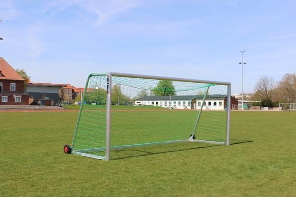 Jugend-Trainingstor All-inclusive - 5,00 x 2,00 m, inkl. integrierte Gewichte und Transport-Räder