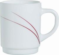 Hartglas-Geschirr Serie Toronto - Henkelbecher in Rot