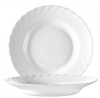Serie Trianon - Ideal für Kita, Hort oder Schule - Tiefer Suppenteller in weiß
