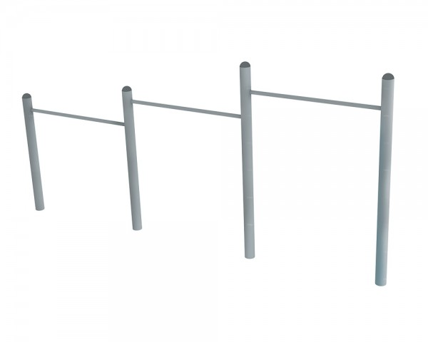 3-stufige Reckanlage von Ledon® aus Stahl