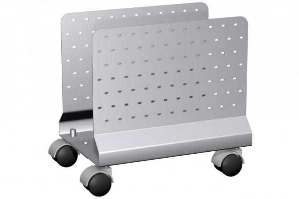 Mobiler CPU-Halter in silber von Geramöbel®.