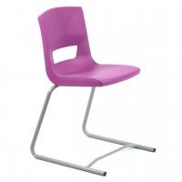 Stuhl Postura+ Freischwinger mit Sitzschale in Violett