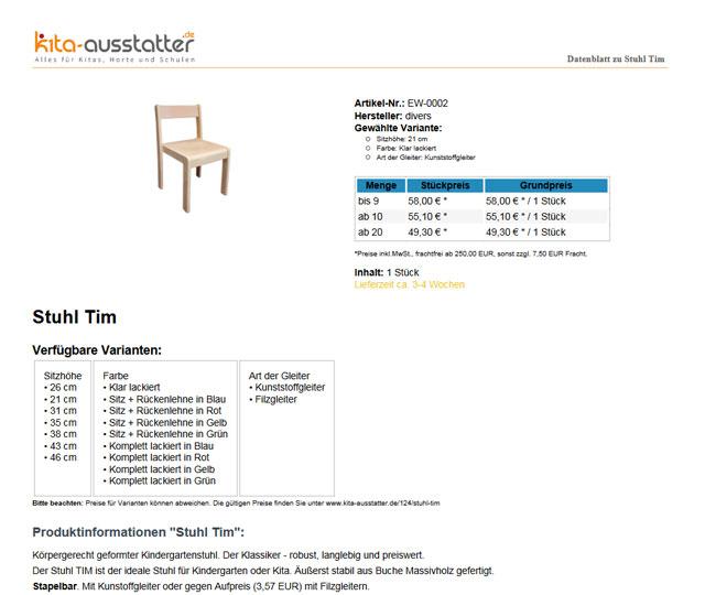 Artikel-Datenblatt als PDF bei kita-ausstatter.de