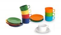 Set Kaffeetasse mit Untertasse der Serie Kinderzeug - Geschirr aus Polycarbonat