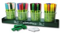 Jolly Booster XL Fasermaler - 84 Fasermaler (je 6 Stifte in 14 Farben) in der praktischen Bubblepool Station