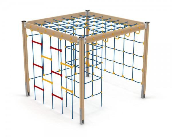 Spielanlage Vaner Serie Classic Signal von Ledon® - Klettergerüst aus Balkenkonstruktion mit Kletternetzen