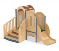 Spielburg Lichtbogen mit Treppenaufgang und seitlicher Rutsche