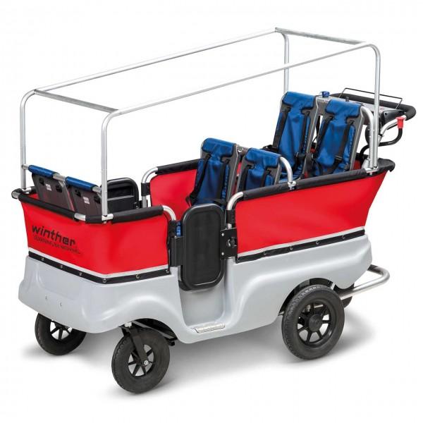 E-Turtle Kinderbus für 6 Kinder von winther - Elektro-Transportwagen für Kita, Kindergarten und Krippen