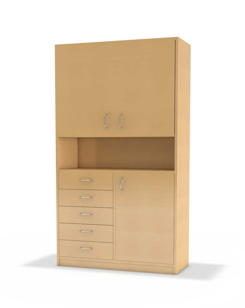 b ro hochschrank serie b nova unten mit 5 schubladen. Black Bedroom Furniture Sets. Home Design Ideas