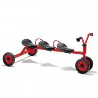 MINI VIKING Rutsch Dreirad für drei Kinder von winther
