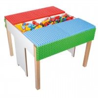 Spieltisch Poly-M mit 500er Baustein-Set Lebenswelten