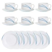 Sparset Hartglas-Kaffeeservice Serie Toronto - blau (Navy)