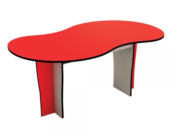 Großer Outdoor-Tisch von Ledon® - Sandkastentisch in rot/grau