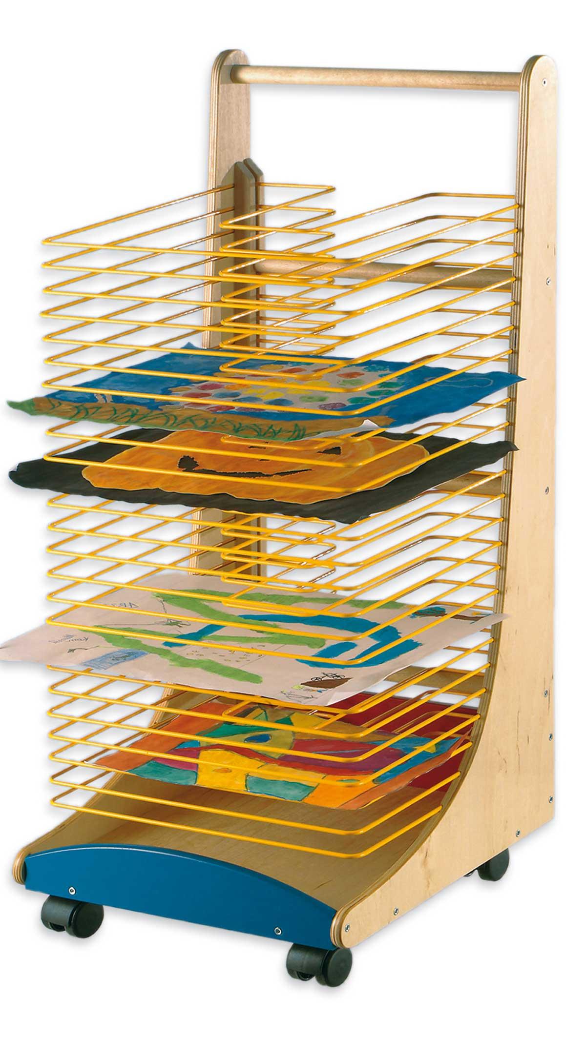 bildertrockenwagen f r formate bis din a3 fahrbarer. Black Bedroom Furniture Sets. Home Design Ideas
