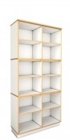 debe.decor - Offenes hohes Regal breit mit 6 verstelbaren Einlegeböden - B/H/T 105,6 x 211,9 x 39,2 cm