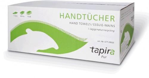Papier-Handtücher 1-lagig, naturweiß