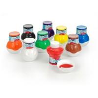 Creall® Fingerfarbe und Plakatfarbe - lieferbar in 9 leuchtenden Farben