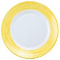 Dessertteller in Gelb aus Geschirrserie Brush von Arcoroc