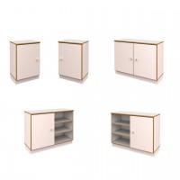 Schrank H 77,5 cm debe.decor - lieferbare Schränke mit 1 oder 2 Türen in breiter oder schmaler Ausführung