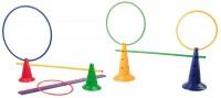 Multi Action Set mit 4 Funktionskegel, 4 Rundstäben und 4 Flachreifen