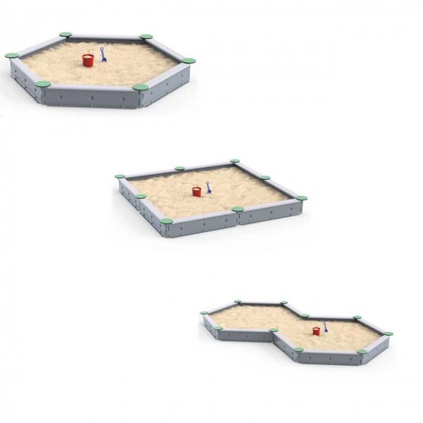 Ledon Basic Sandkasten - lieferbar als 6-Eck, 4-Eck oder als liegende Acht (10-Eck)
