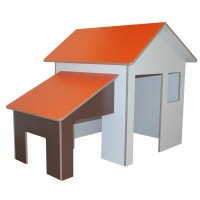 Spielhaus mit Anbau debe.decor - Grundfläche B/H/T 160 x 130 x 120 cm