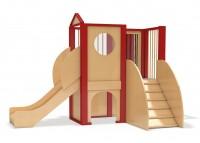 Spielburg Berti 20 mit Klettersteg, Spiegelelement und Rutsche